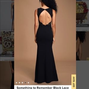 Lulu's black backless gown